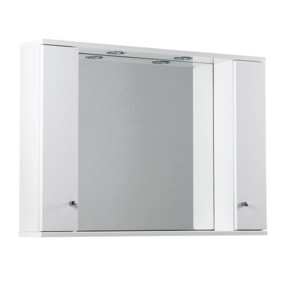 Ikoma Pearl Grey Matt 1050mm Mirror, Unit and Light
