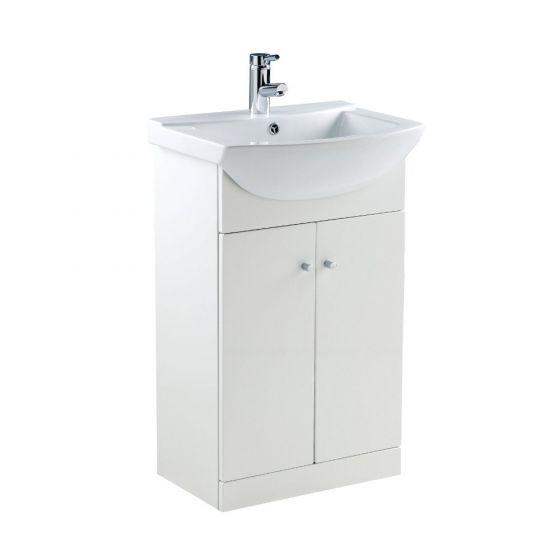 Ikoma Pearl Grey Matt 550mm Vanity Unit & Basin
