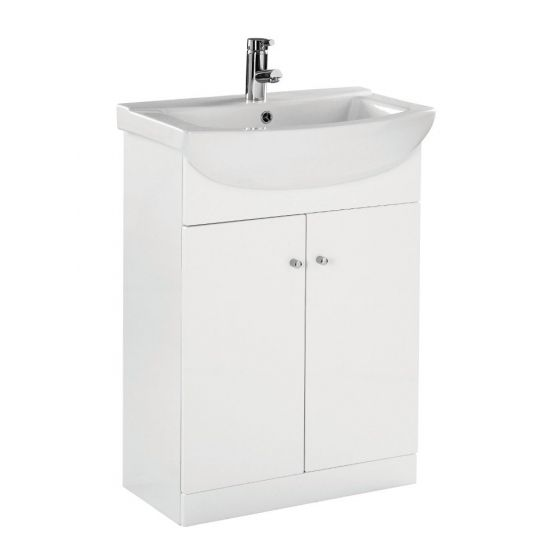 Ikoma Pearl Grey Matt 650mm Vanity Unit & Basin