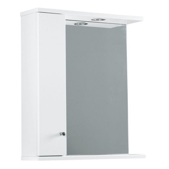 Ikoma Pearl Grey Matt 650mm Mirror, Unit and Light