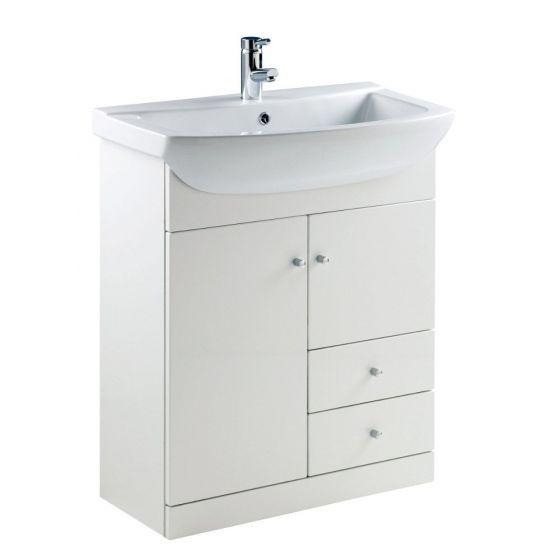 Ikoma Pearl Grey Matt 750mm Vanity Unit & Basin