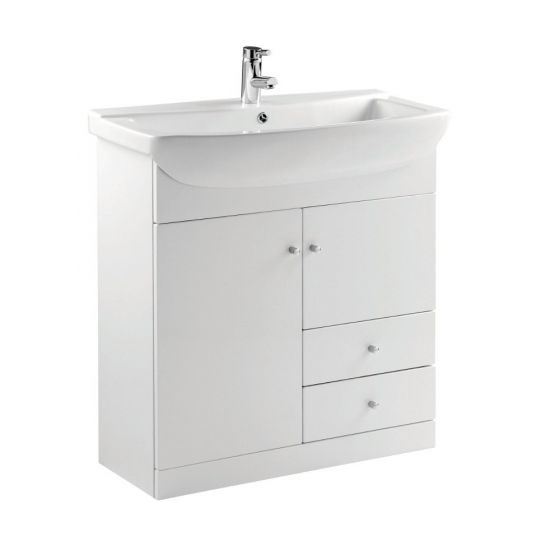 Ikoma Pearl Grey Matt 850mm Vanity Unit & Basin