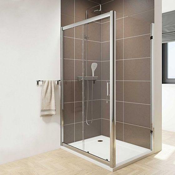 Inspire Single Sliding Shower Door 1400mm x 1850mm High