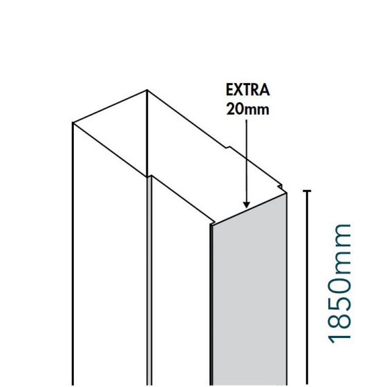 Merlyn Ionic Source 20mm Extension Profile 1850mm