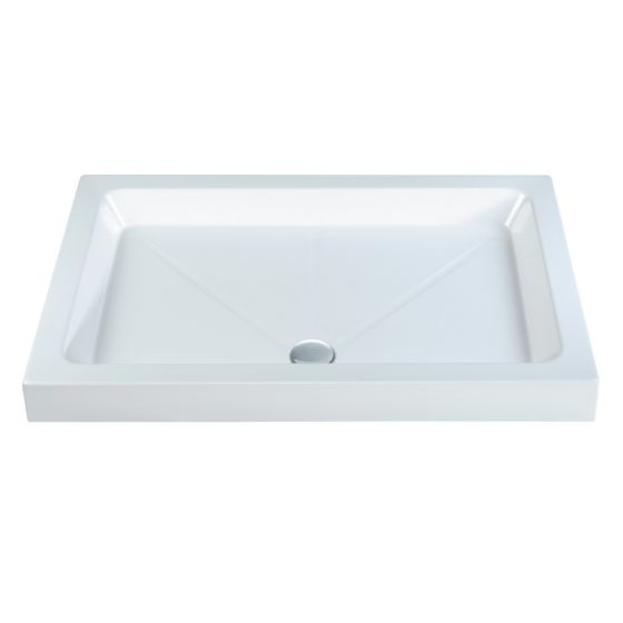 Classic shower Trays Stone Resin Rectangle 1600mm x 800mm Flat top