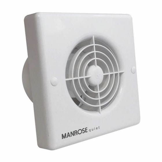 """Manrose Quiet Pull Cord Extractor Fan 100mm / 4"""""""