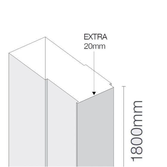 Merlyn Mbox 20mm Extension Profiles 1800mm High