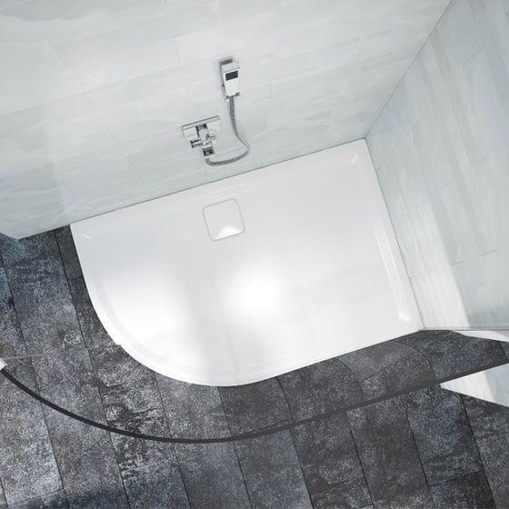 Merlyn Level 25 Offset Quadrant Left Handed Shower Tray 1200mm x 900mm