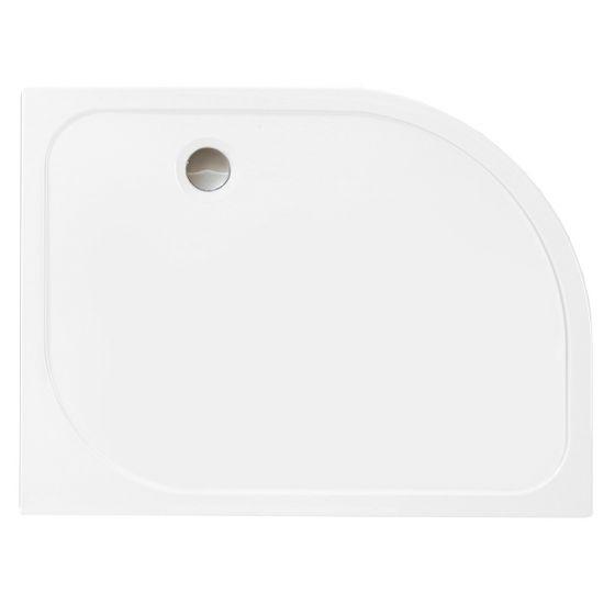 Merlyn Mstone Offset Quadrant Left Handed Shower Tray 1200mm x 900mm