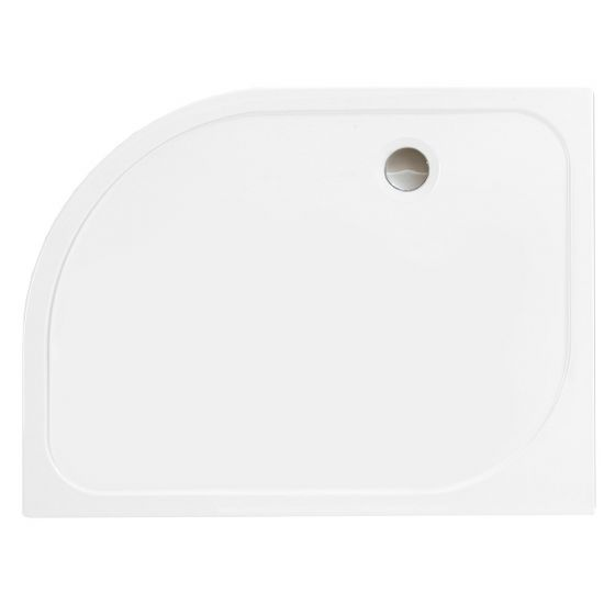 Merlyn Mstone Offset Quadrant Right Handed Shower Tray 1200mm x 800mm