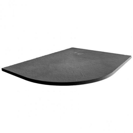 Merlyn Truestone Offset Quadrant Left Handed Shower Tray 1200mm x 900mm - Slate Black