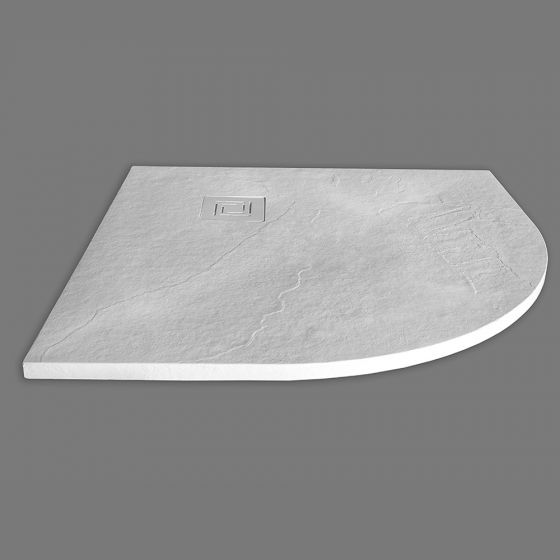 Merlyn Truestone Quadrant Shower Tray 900mm x 900mm - White