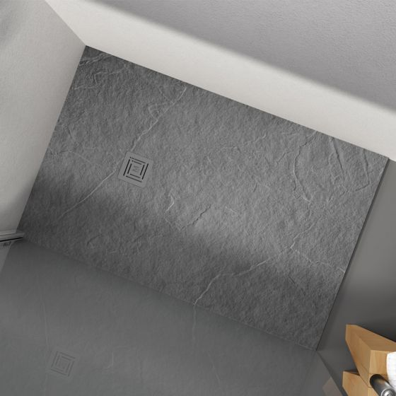Merlyn Truestone Rectangular Shower Tray 1600mm x 800mm - Fossil Grey