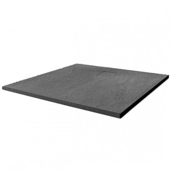 Merlyn Truestone Square Shower Tray 900mm x 900mm - Slate Black