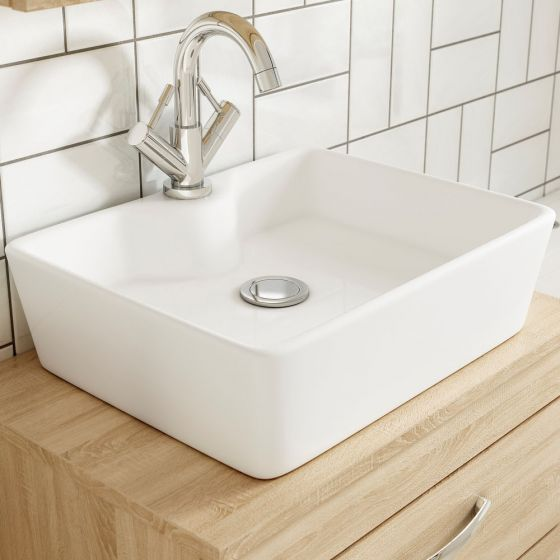 Nuie Tide 480mm 1 Tap Hole Counter Top Vessel Basin