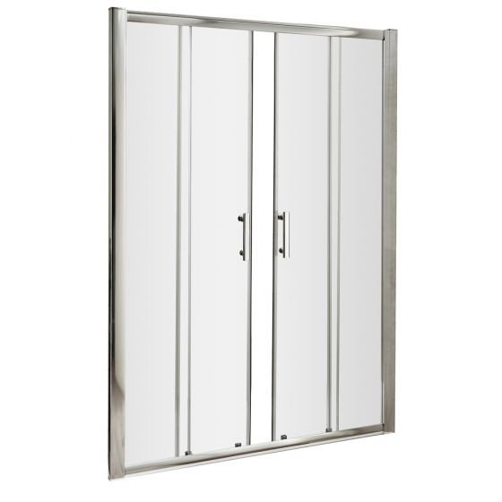 Nuie Pacific 1400mm Double Sliding Shower Door