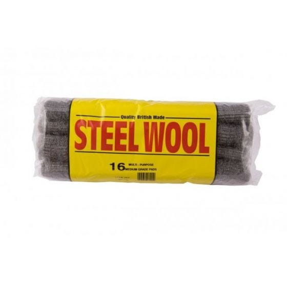 Pack Of 8 Steel Wool Pads Medium