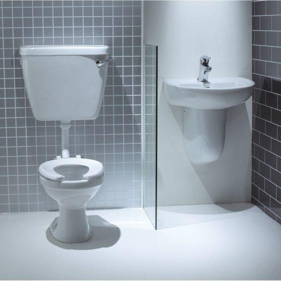 Lecico Low Level 30cm Infant School Toilet Pan & Seat