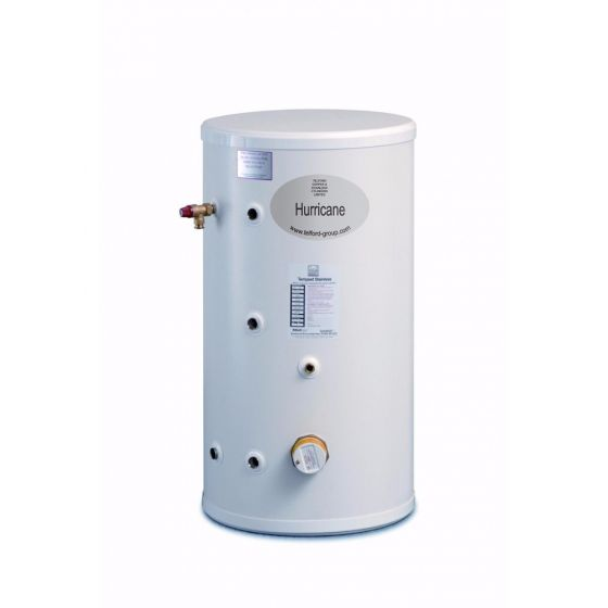 Telford Hurricane 125 Litre Unvented Stainless Steel Indirect Cylinder