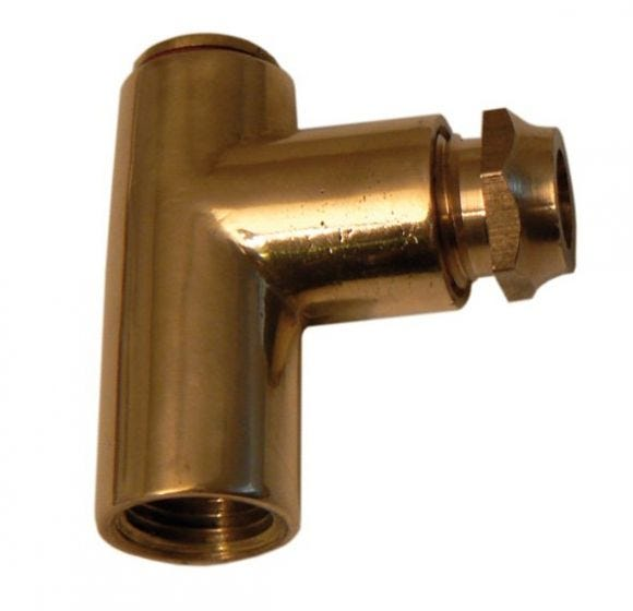 """Polished Brass 8mm Restrictor Elbow 1"""""""
