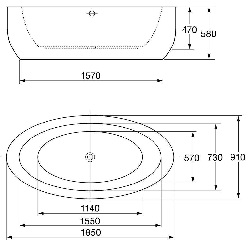 April Halton Contemporary Freestanding Bath 1850mm X 910mm Exhaust Hood Wiring Diagram