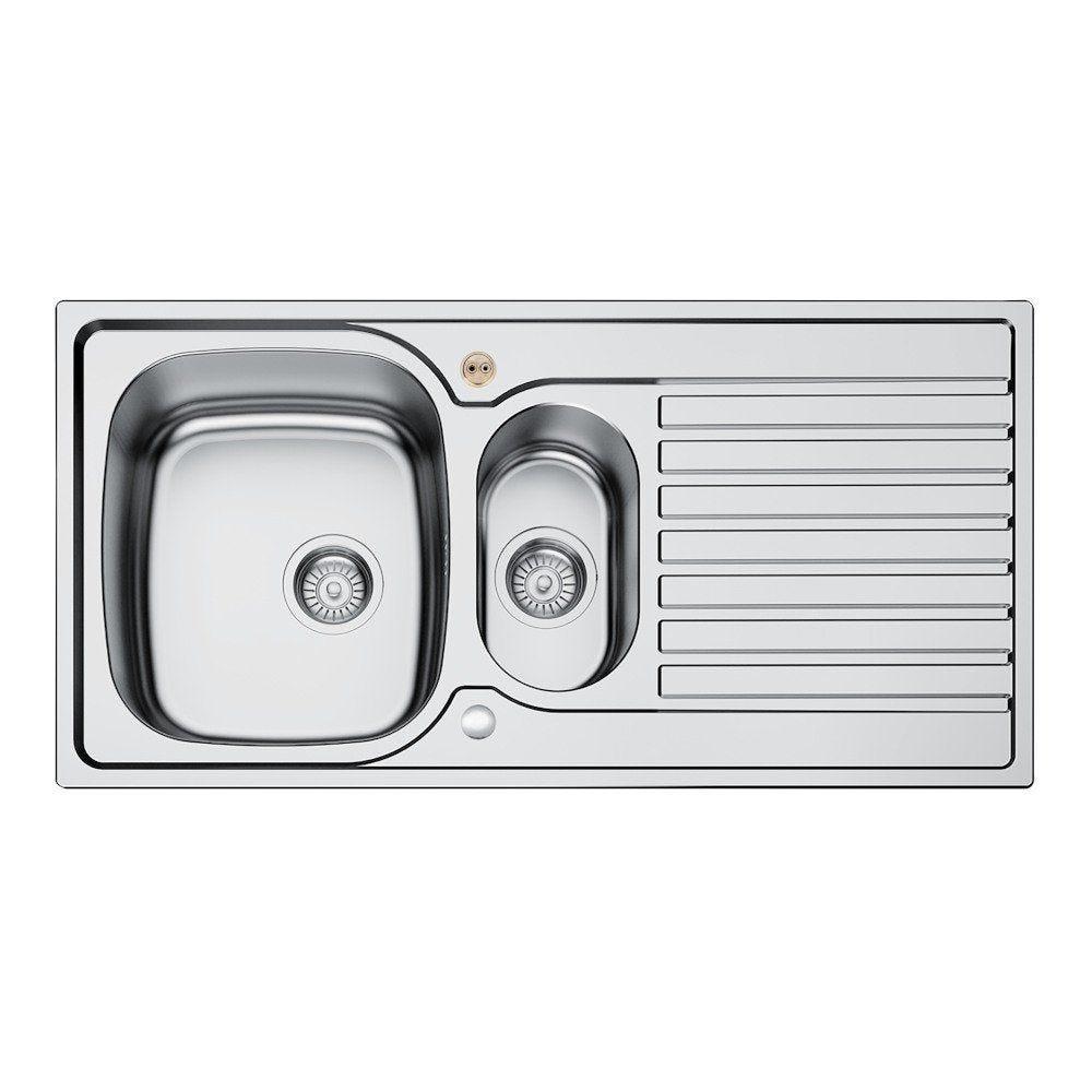 Excellent Bristan Inox Sink Top 1 5 Bowl Round Steel Universal 1000Mm Home Interior And Landscaping Palasignezvosmurscom