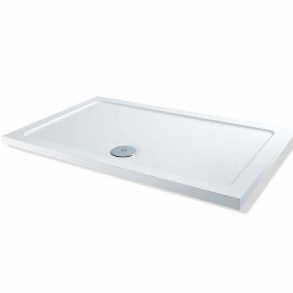 Bathroom Home & Garden Store 1400 x900 x 40 mm Rectangular Stone Tray for Shower Enclosure Cubicle with Free Waste