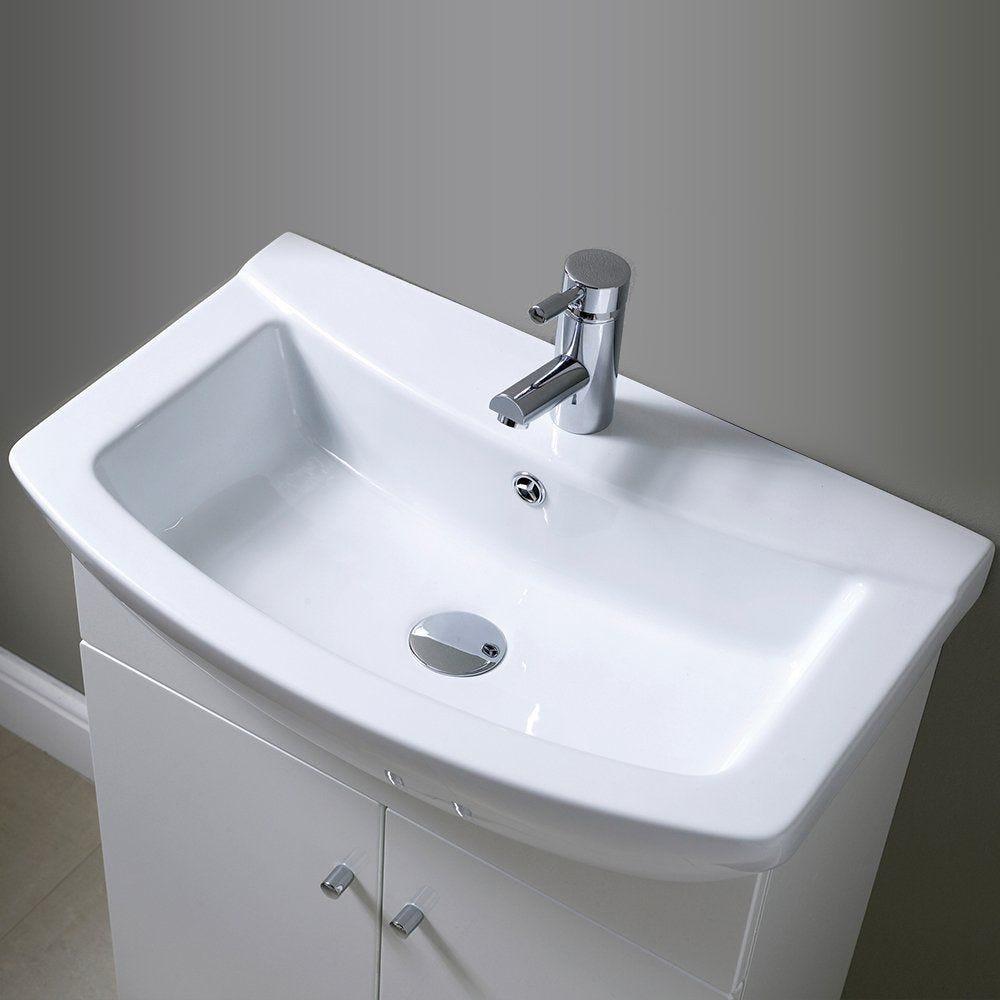 Ikoma White Gloss 550mm Vanity Unit Amp Basin