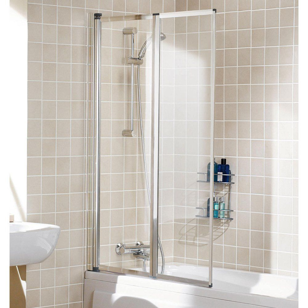 lakes classic white framed double panel bath screen 950mm. Black Bedroom Furniture Sets. Home Design Ideas