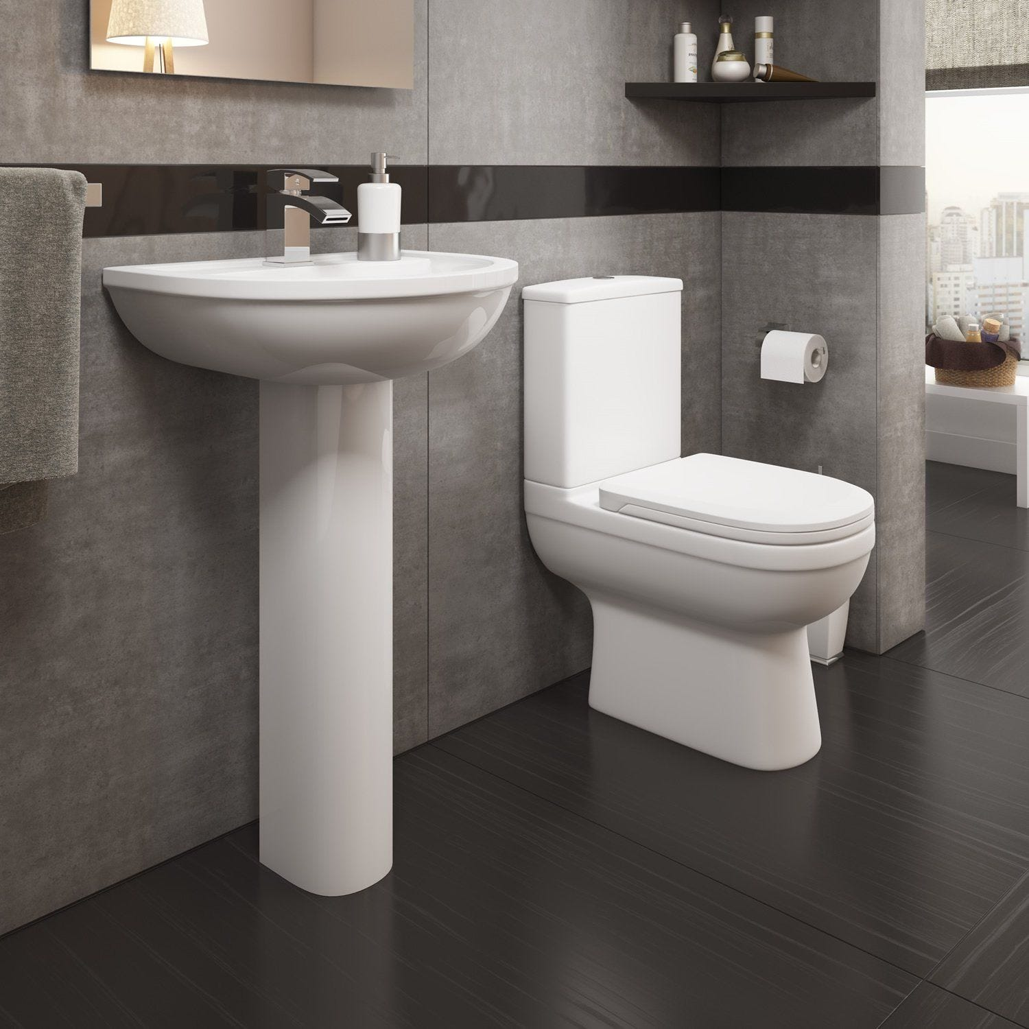 Kartell Lifestyle Comfort Height Back To Wall Toilet With