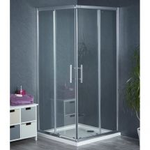 760mm x 760mm Corner Entry Shower Enclosure and Shower Tray