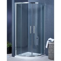 900mm x 900mm Double Door Quadrant Shower Enclosure and Shower Tray