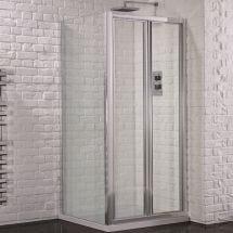 Aquadart Venturi 6 760mm x 760mm Bifold Door Shower Enclosure and Shower Tray