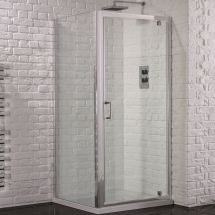 Aquadart Venturi 6 760mm x 760mm Pivot Door Shower Enclosure and Shower Tray