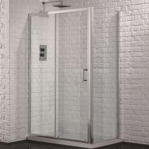 Aquadart Venturi 6 1000mm x 700mm Single Sliding Door Shower Enclosure and Shower Tray