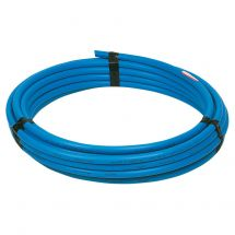 Blue MDPE Water Pipe 32mm x 25m Coil