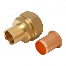 Brass Copper to Poly Adaptor 25mm x 22mm