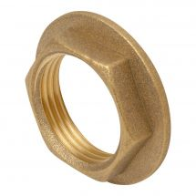 Brass Flanged Hexagon Backnut 1/2""