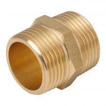 "Brass Hexagon Nipple 1/8"" Male"