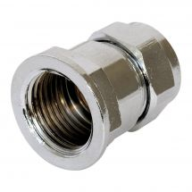 Chrome Compression Female Iron Coupler