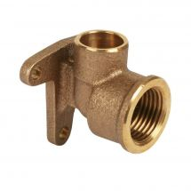 """End Feed Wall Plate Elbow 15mm x 1/2"""""""