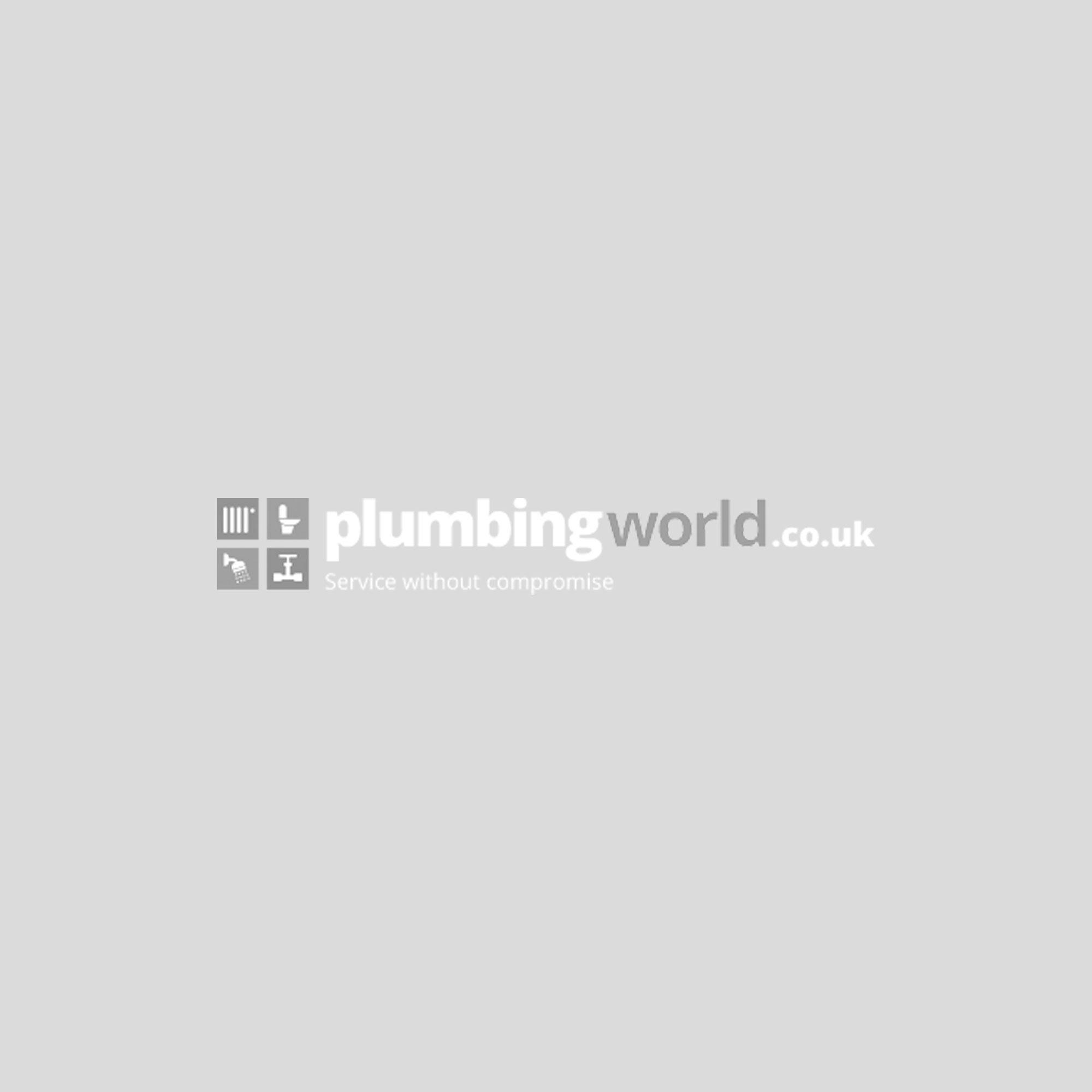 RAK Flush Plate With Polished Chrome Surrounding Round Push Plates - White