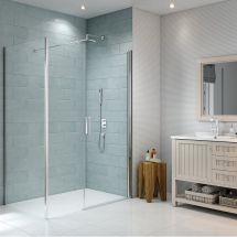 Merlyn 8 Series 760mm Side Panel for use with Frameless Pivot Door & Inline Panel