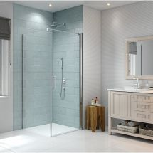 Merlyn 8 Series 760mm Side Panel for use with Frameless Pivot Door