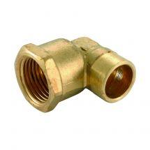 "Solder Ring Female Iron Elbow 15mm x 1/2"""