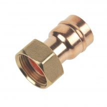 """Solder Ring Straight Tap Connector 22mm x 3/4"""""""
