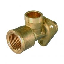 """Solder Ring Wall Plate Elbow 15mm x 1/2"""""""