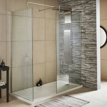 Nuie 1100mm Wetroom Screen & Support Bar