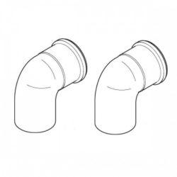 Baxi Multifit Plume Displacement kit 135° Flue Bends (Pair) - Black 720648601