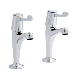 Kartell Leva Pair of High Neck Kitchen Sink Taps